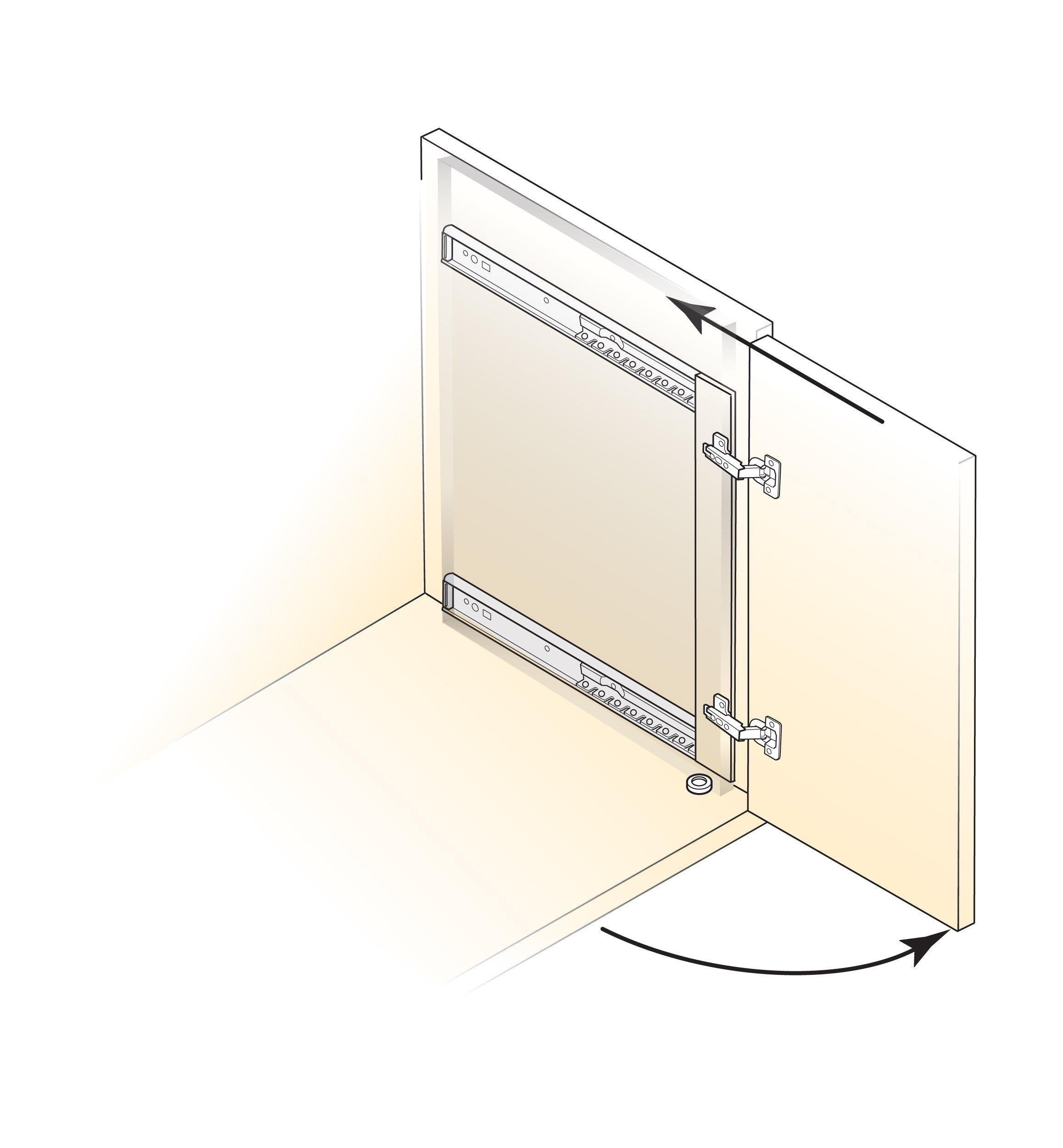 Concealed Door Slides In 2020 Overlay Hinges Diy Cabinet Doors Concealed