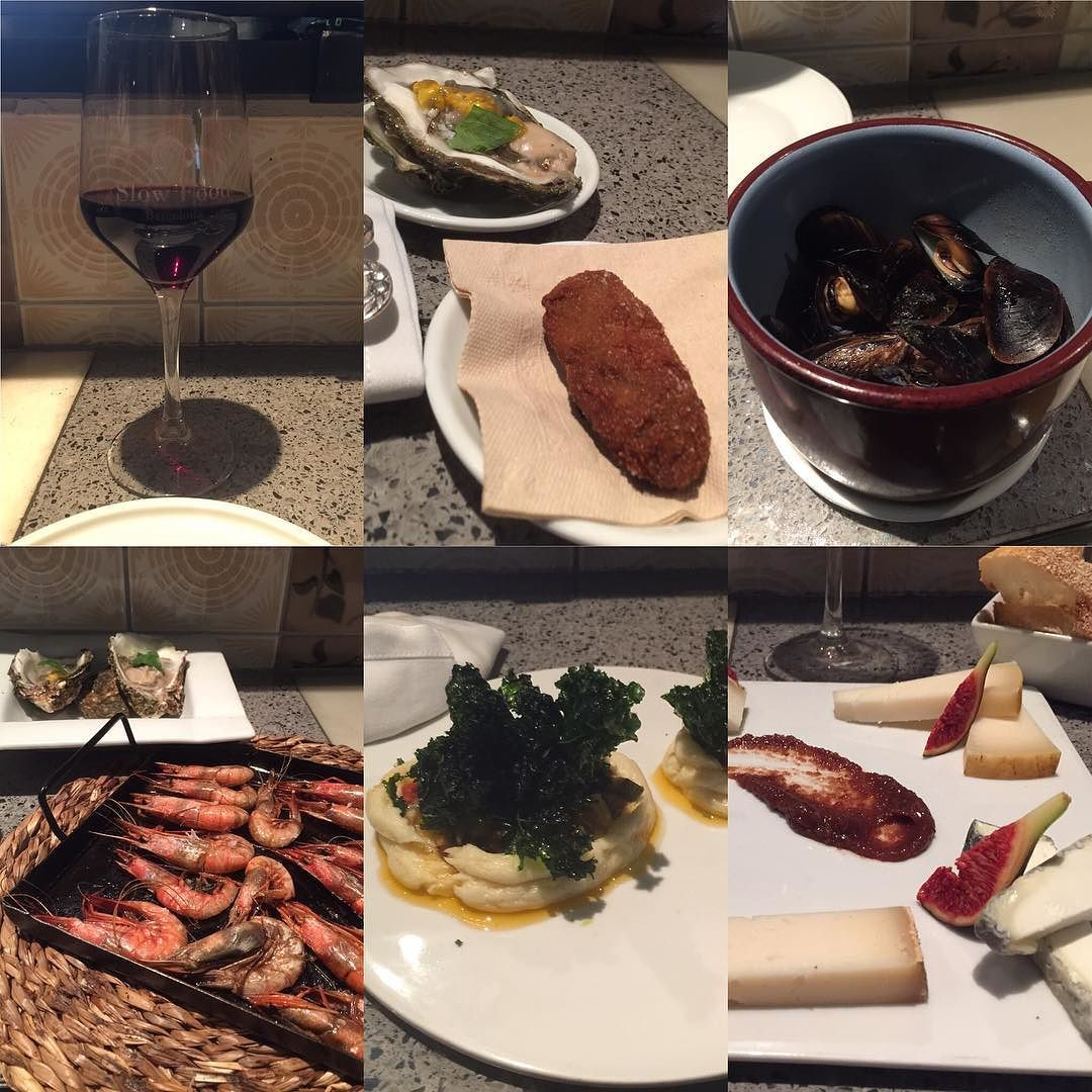 #tapas #espana #Barcelona #camarones #croquette #mussels #ostra #oysters #quesos #cheese #Catalan #travel #reviewsbycouple