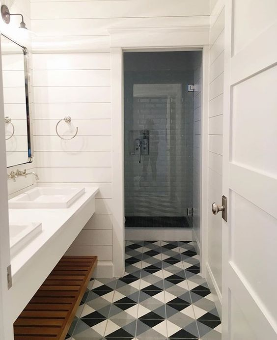 save or splurge black u0026 white floor tile