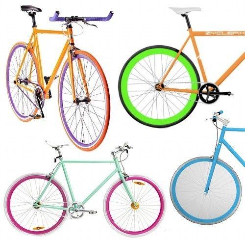 I Imagine Myself On This With My Yoga Mat Slung Over My Back Biking The Streets Of Seattle With Kit Hello F Rainbow Bike Custom Bikes Cool Bike Accessories