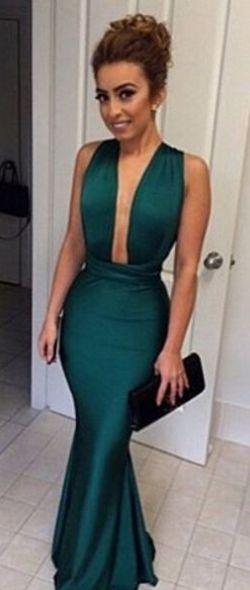 dfd8c1420c9 Hunter Green Prom Dress