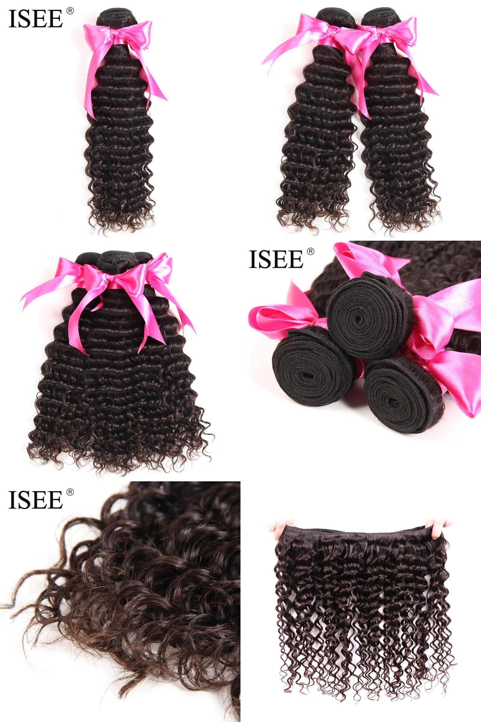 Visit To Buy Isee Hair Deep Wave Brazilian Hair Weave Bundles Remy