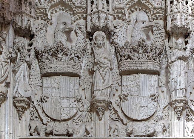 Detalle del interior de San Juan de los Reyes Toledo (España)