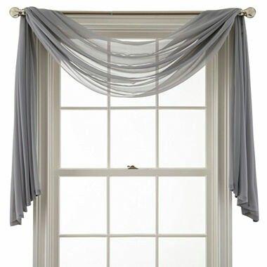 Jcp Martha Window Airy Sheer Window Scarf Valance Zen Gray Window Scarf Scarf Valance Valance