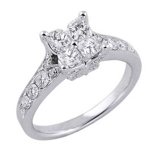 butterfly calla lily butterfly platinum diamond ring with - Butterfly Wedding Rings