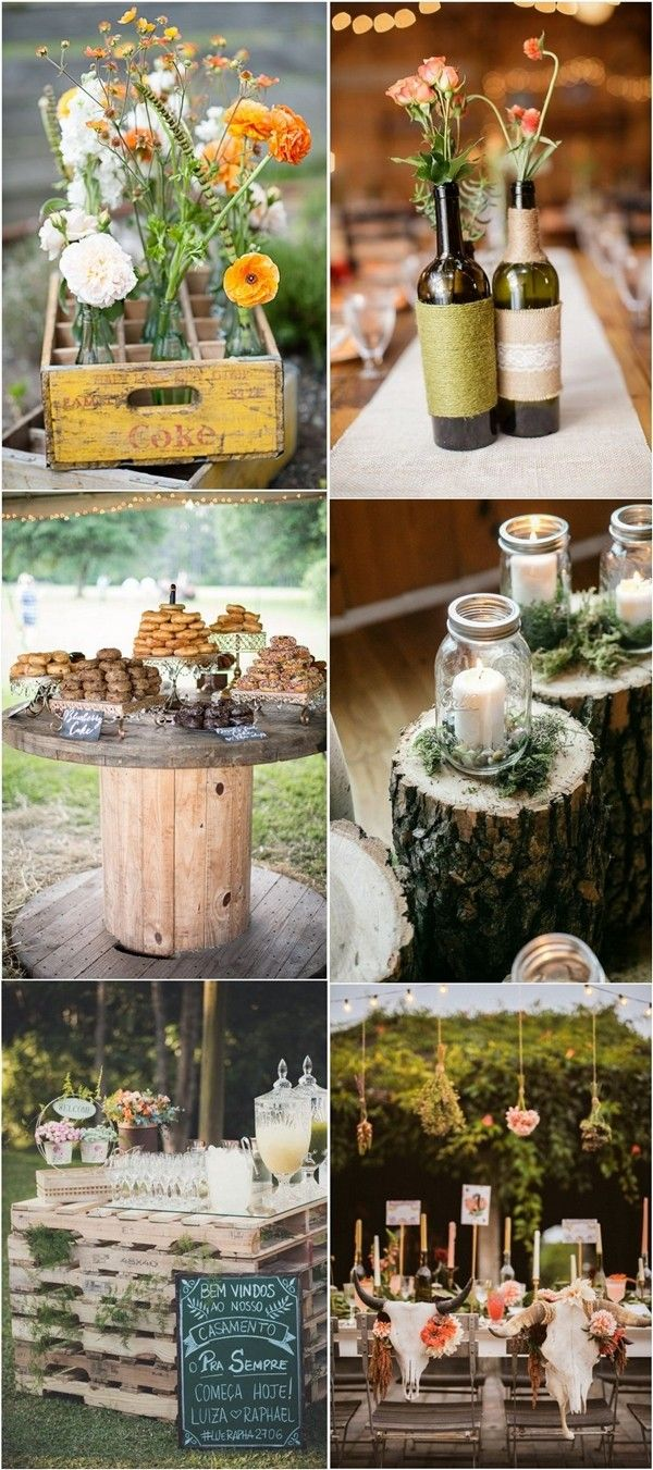 Wedding decorations country   Perfect Ideas for A Rustic Wedding  Wedding Project  Pinterest
