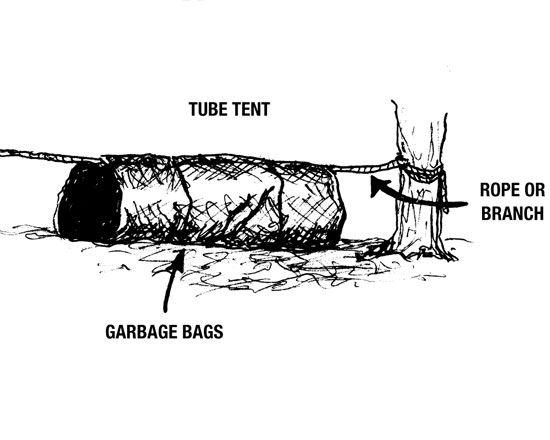 A tube tent shelter  sc 1 st  Pinterest & A tube tent shelter | Good Things To Know | Pinterest | Shelter