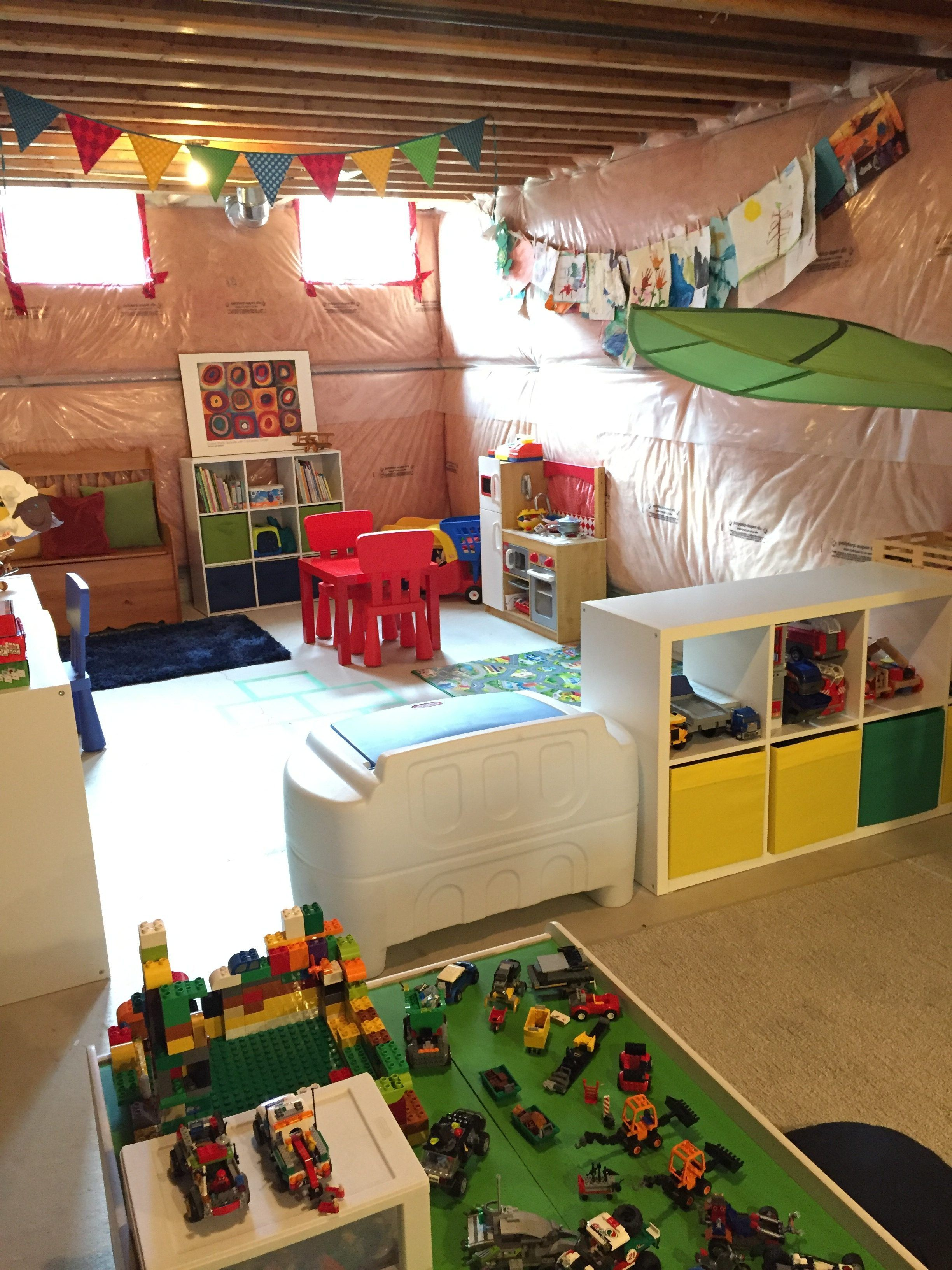 amazing unfinished basement ideas you should try playroom