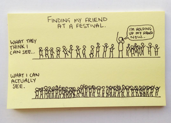 And what it's like to actually go for concerts with friends. | This Dude Creates Graphs And Charts About Everyday Life On Post-Its, And They're Hilarious