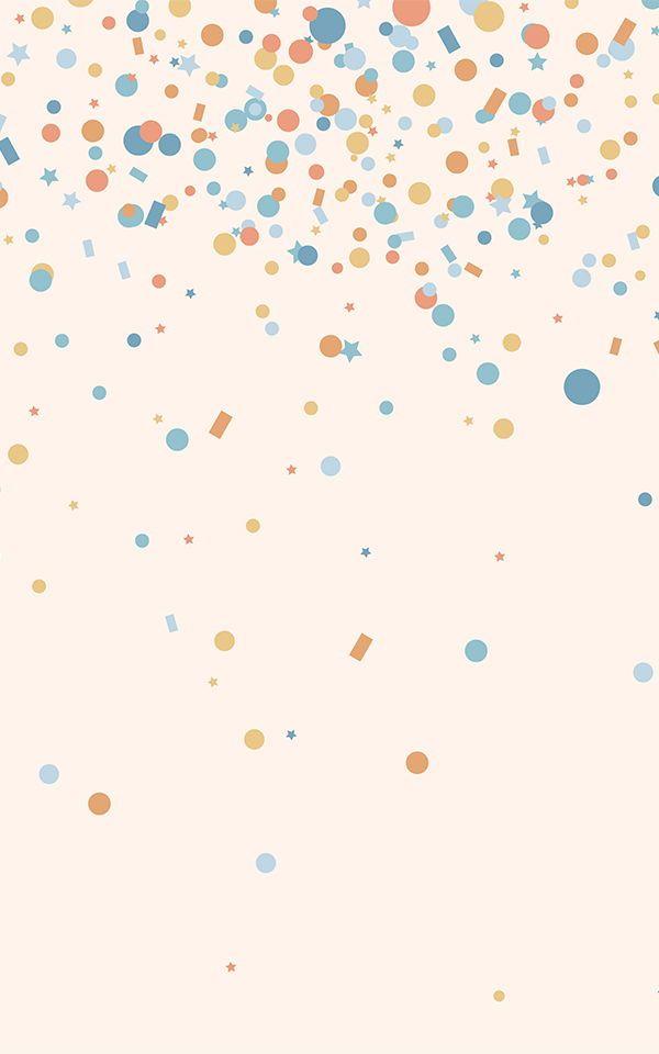 Colourful Confetti Wallpaper | Sprinkle Design | MuralsWallpaper