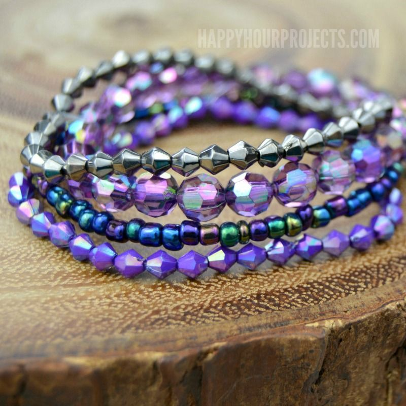 Layer as many of these DIY stacked bracelets as you like for instant, mix-and-match accessories.
