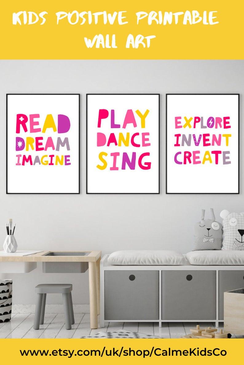 Printable Playroom Nursery Wall Art Toddler Girl Room Prints Etsy In 2020 Playroom Decor Pink Playroom Kids Playroom Decor