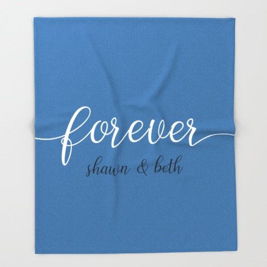 anniversary gifts for women personalized fleece blanket throw