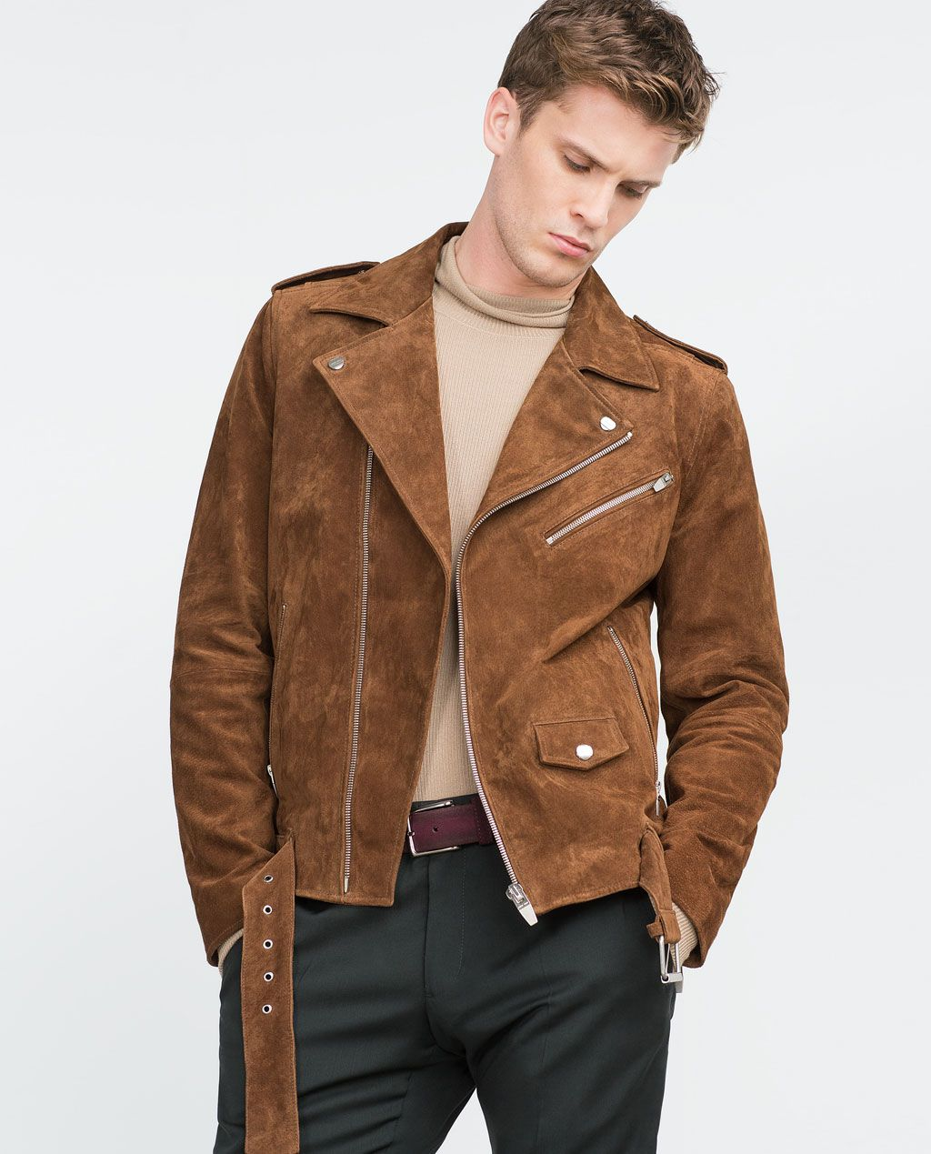 Zara Suede Moto Jacket Mens jackets, Leather jacket