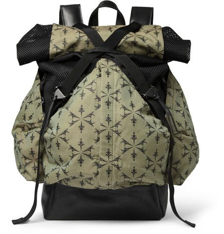 Christopher Raeburn Aruck Leather and Canvas Backpack  b6582dac7b4c8