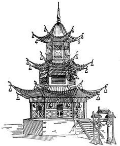 Chinese Architecture Sketch