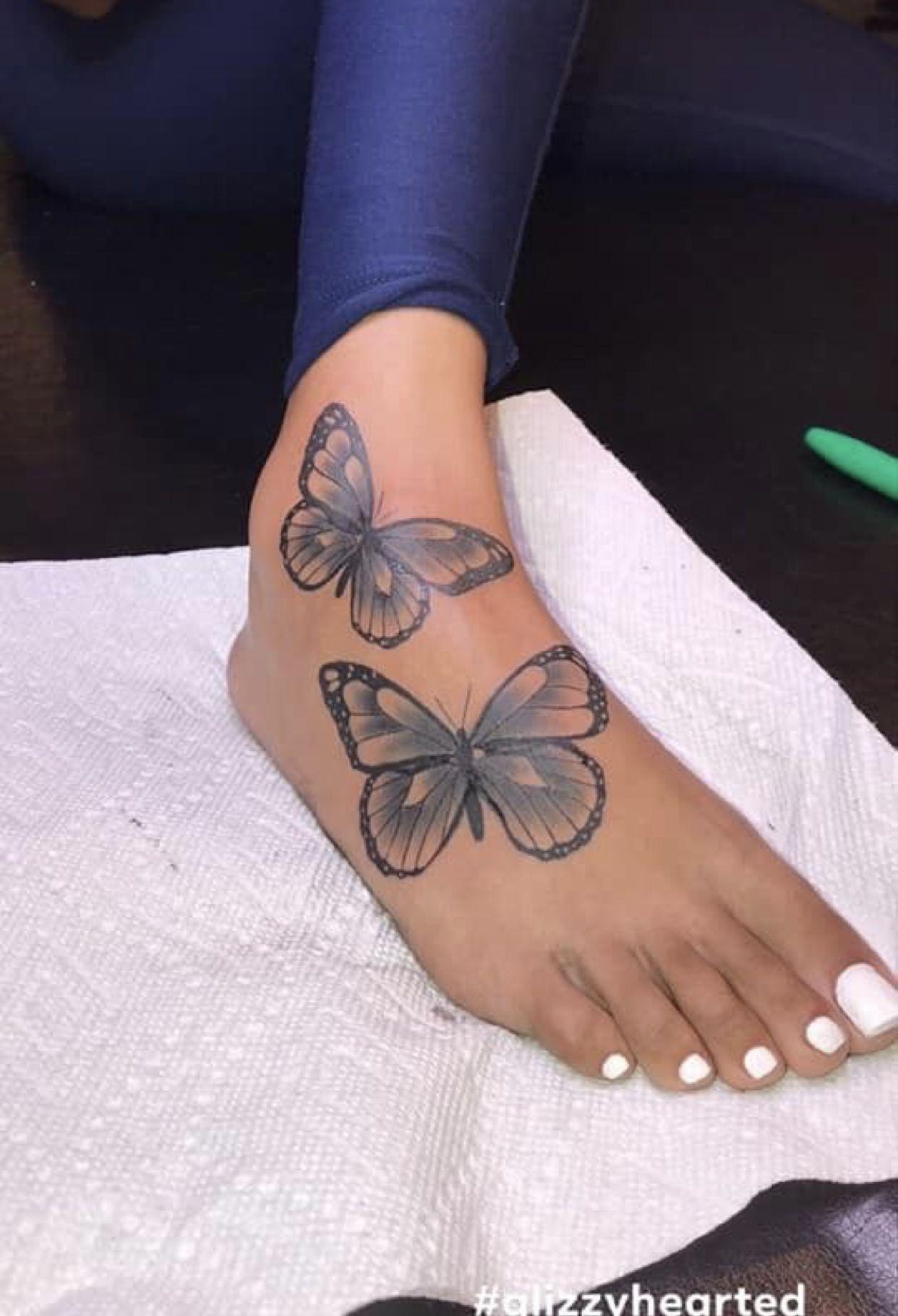 33++ Stunning Cute female foot tattoos image HD