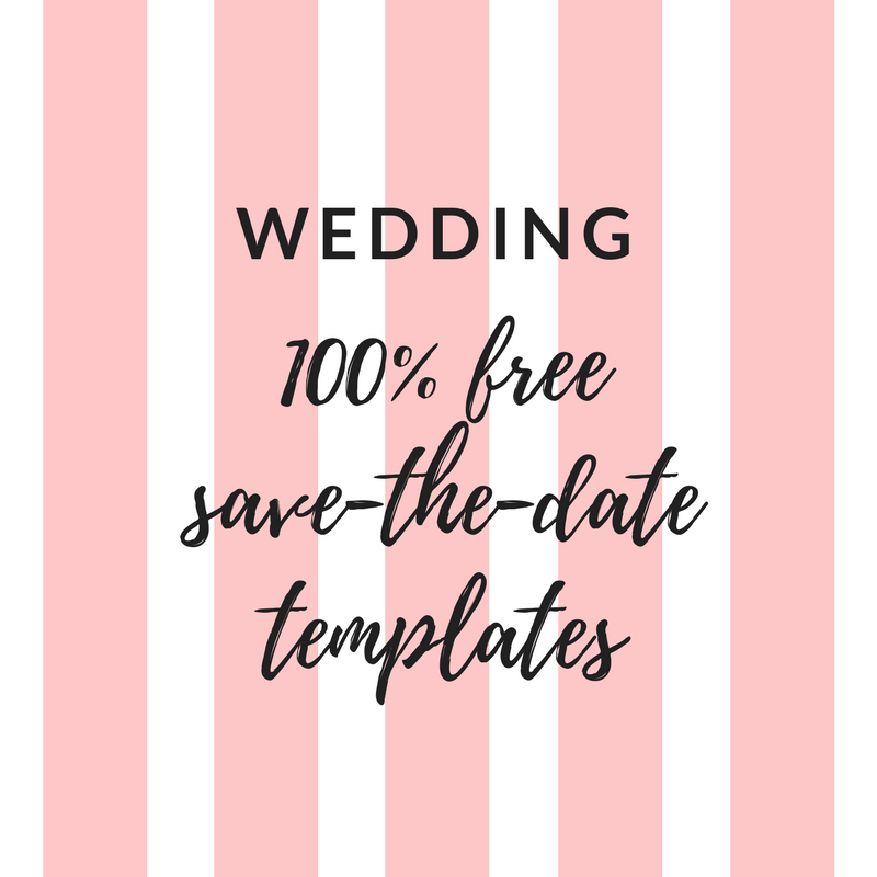 free wedding save the date templates for word
