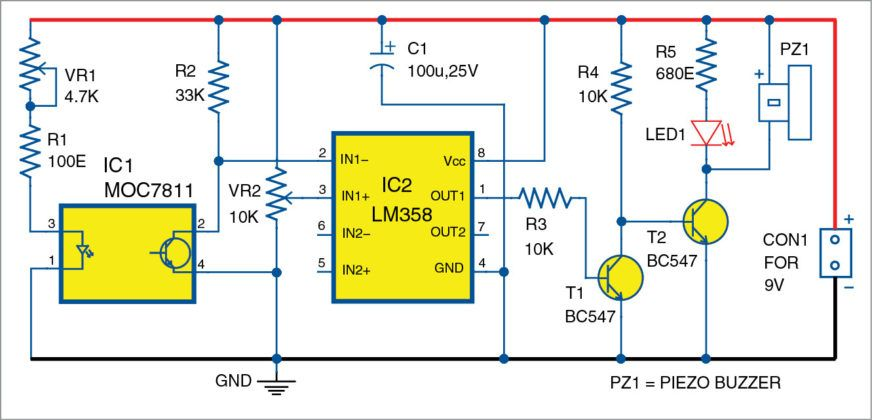 circuit diagram of the optical smoke alarm 회로도 smoke alarms circuit diagram and