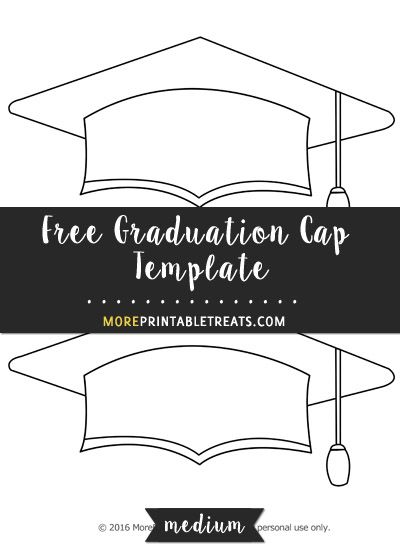 Free Graduation Cap Template Medium Shapes And