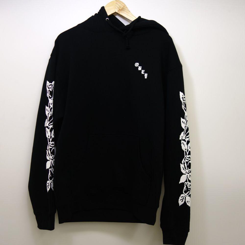 New Obey X Pacsun Black White Dropout Pullover Logo Drawstring Hoodie Sz Medium Drawstring Hoodie Jackets Men Fashion Jacket Style [ 1000 x 1000 Pixel ]