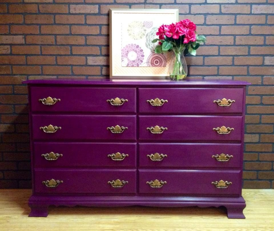 vintage dresser painted purple by twice loved furniture creations twice loved furniture. Black Bedroom Furniture Sets. Home Design Ideas