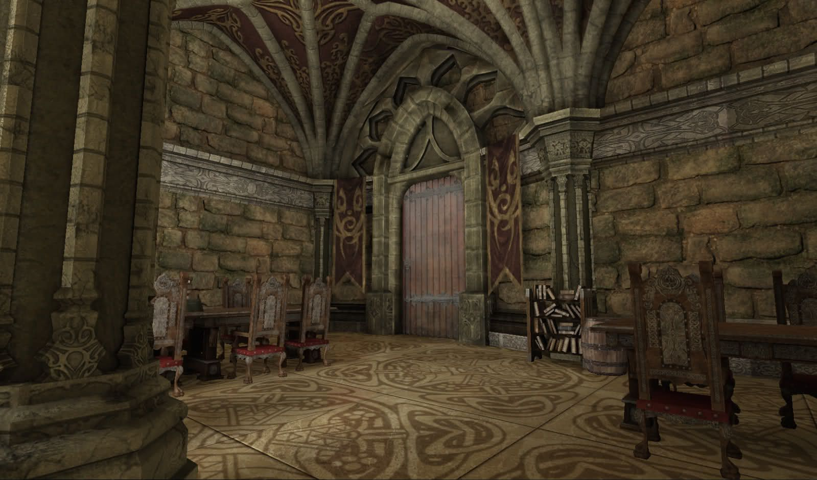 Fantasy castle interior gothic medieval palace 3ds 3D Studio