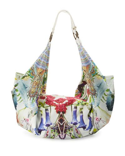 Embellished Soft Beach Bag, Exotic Hypnotic | *Neiman Marcus ...
