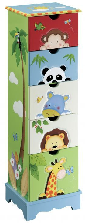 Jungle Kid Kids Drawer Cabinet Sunny Safari From Red