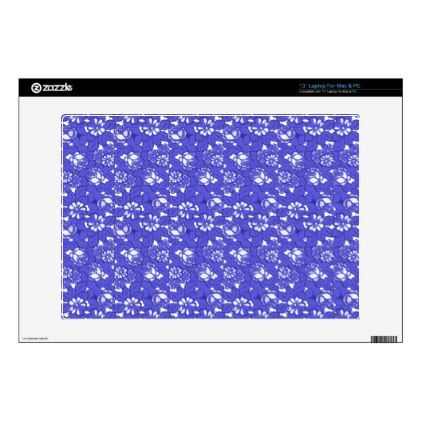 Baroque wallpaper - blue Flower Pattern 13 Laptop Decal | Zazzle.com #blueflowerwallpaper