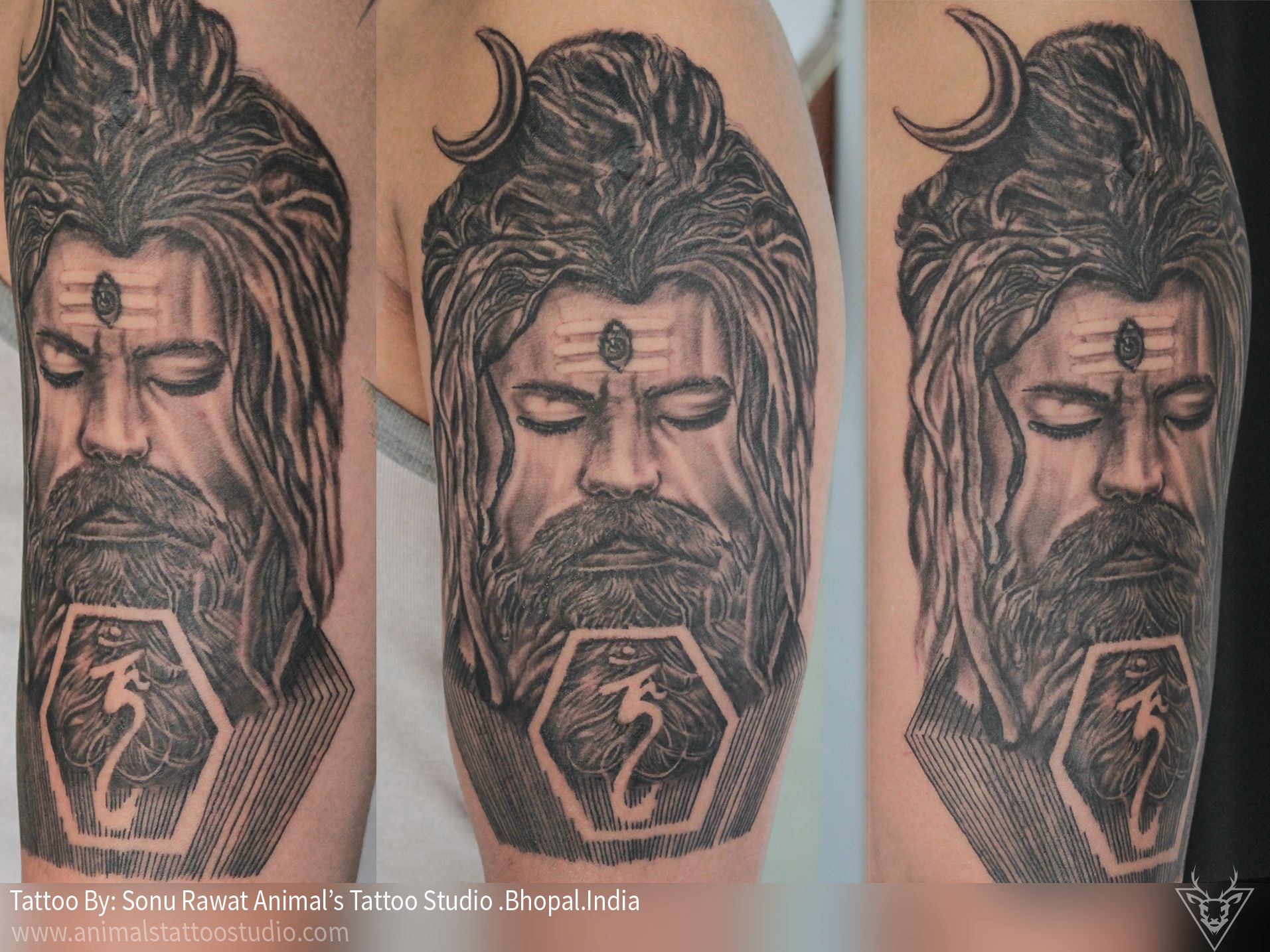 a customize tattoo or design of lord shiv a face of aghori is ...