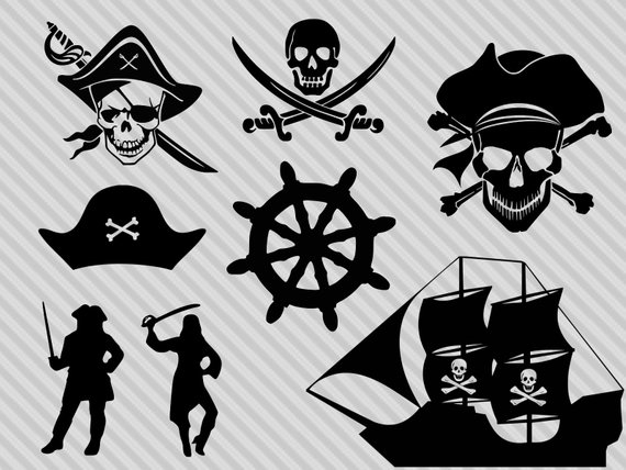 Pirate Svg Bundle Pirate Clipart Pirate Silhouette Skull And Bones Svg Skull Sword Svg Dxf Png Pirate Ship Drawing Tshirt Printing Design Cricut Halloween