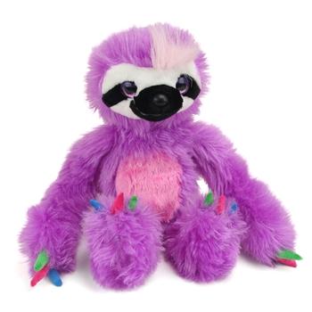 Purple Stuffed Sloth Sweet & Sassy Plush Wild Republic
