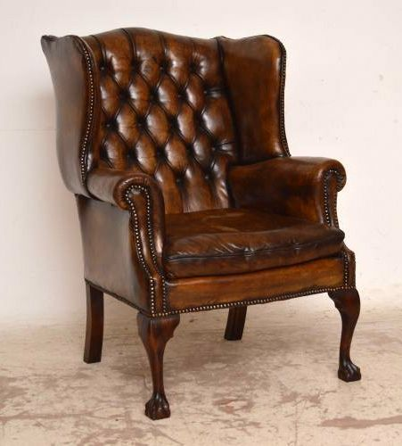 Leather Wingback Chair   Google Search