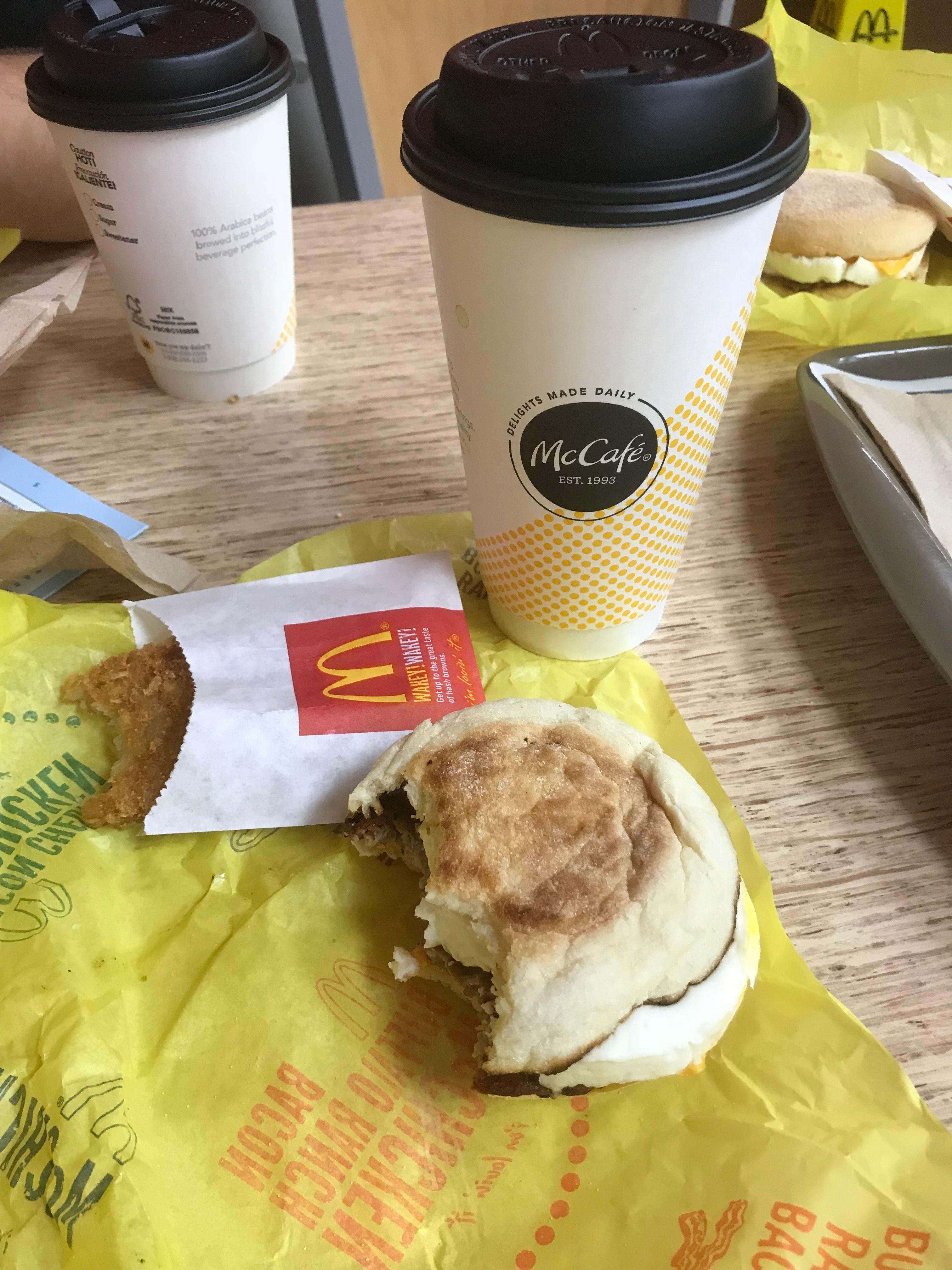 Breakfast of cheap champions like me! Breakfast