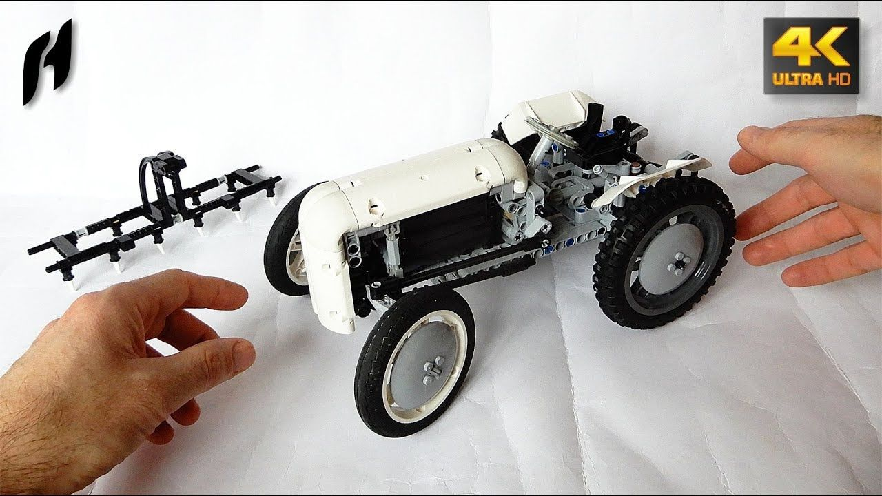 How To Build A Lego Technic Massey Ferguson Te20 Moc 4k Lego