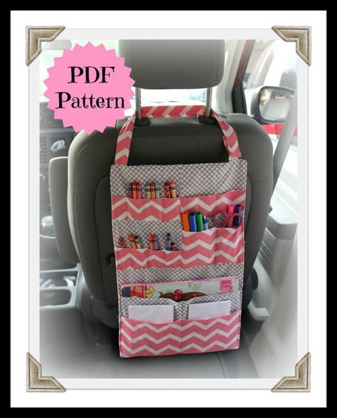 TUTORIAL Kids Car Organizer Pattern Activity Portfolio | Etsy