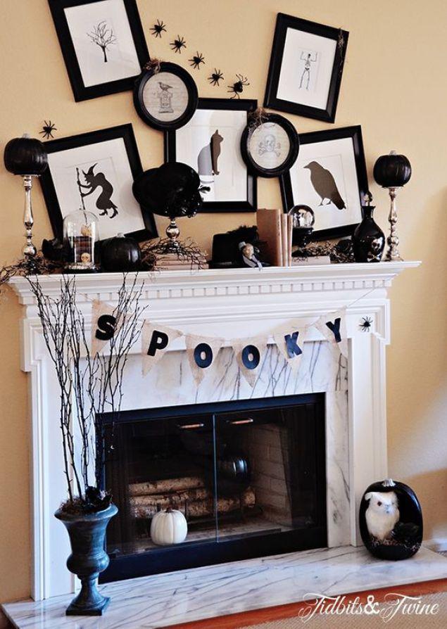 17 Spooky Halloween Mantel Ideas You Need to DIY Holidays