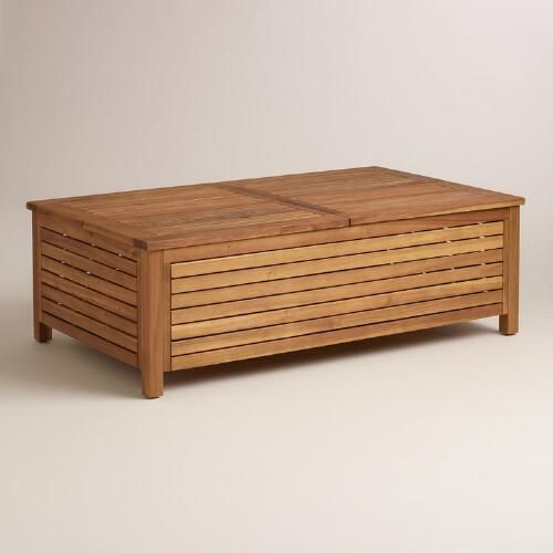 Wood Praiano Outdoor Storage Coffee Table With Images Outdoor