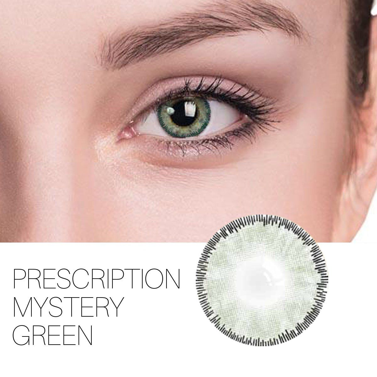 Buy Brand Mystery Prescription Green 14 0mm 1 Pair 12 Month Contact Lenses Free Shipping Green Contacts Lenses Eye Lens Colour Green Contacts