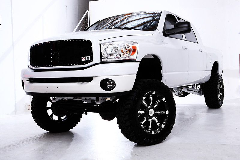 rbp 94r rims and black grille in a lifted white dodge ram support and roll - White 2014 Dodge Ram 2500 Lifted