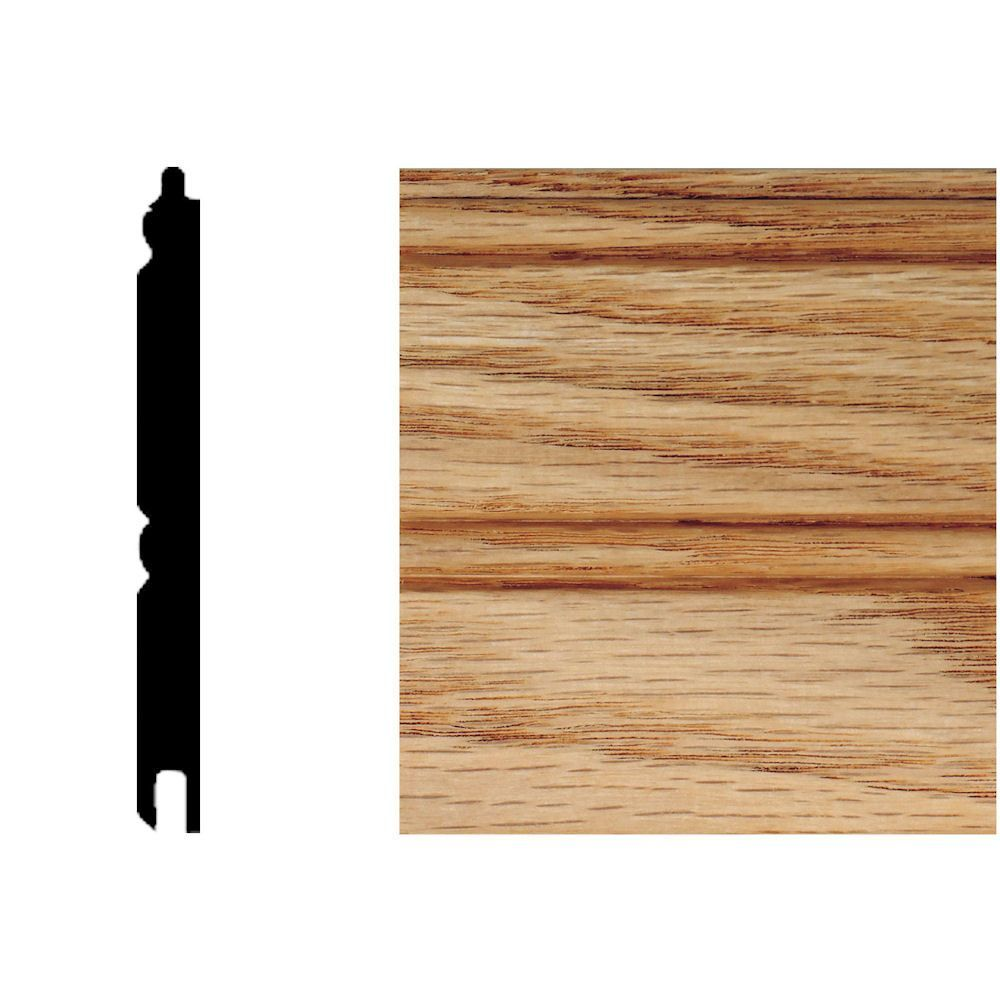 5 16 In X 3 1 8 In X 8 Ft Oak T G Wainscot Panels 6 Pieces Wainscoting Panels Wainscoting Wainscoting Height