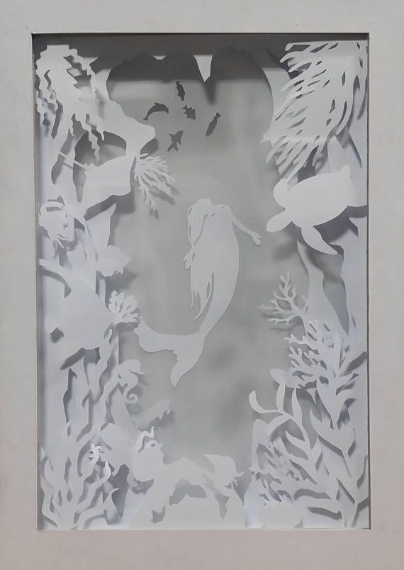 Underwater Paper Cutting Light Box Template Files