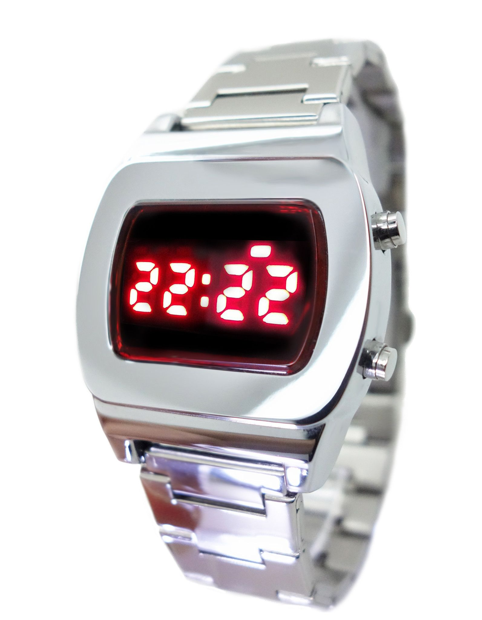 9234da7023d LED Watch Tx8 Multifunction Red Display Digital 70s Retro Chrome Watches-  Limited Edition - Collectors