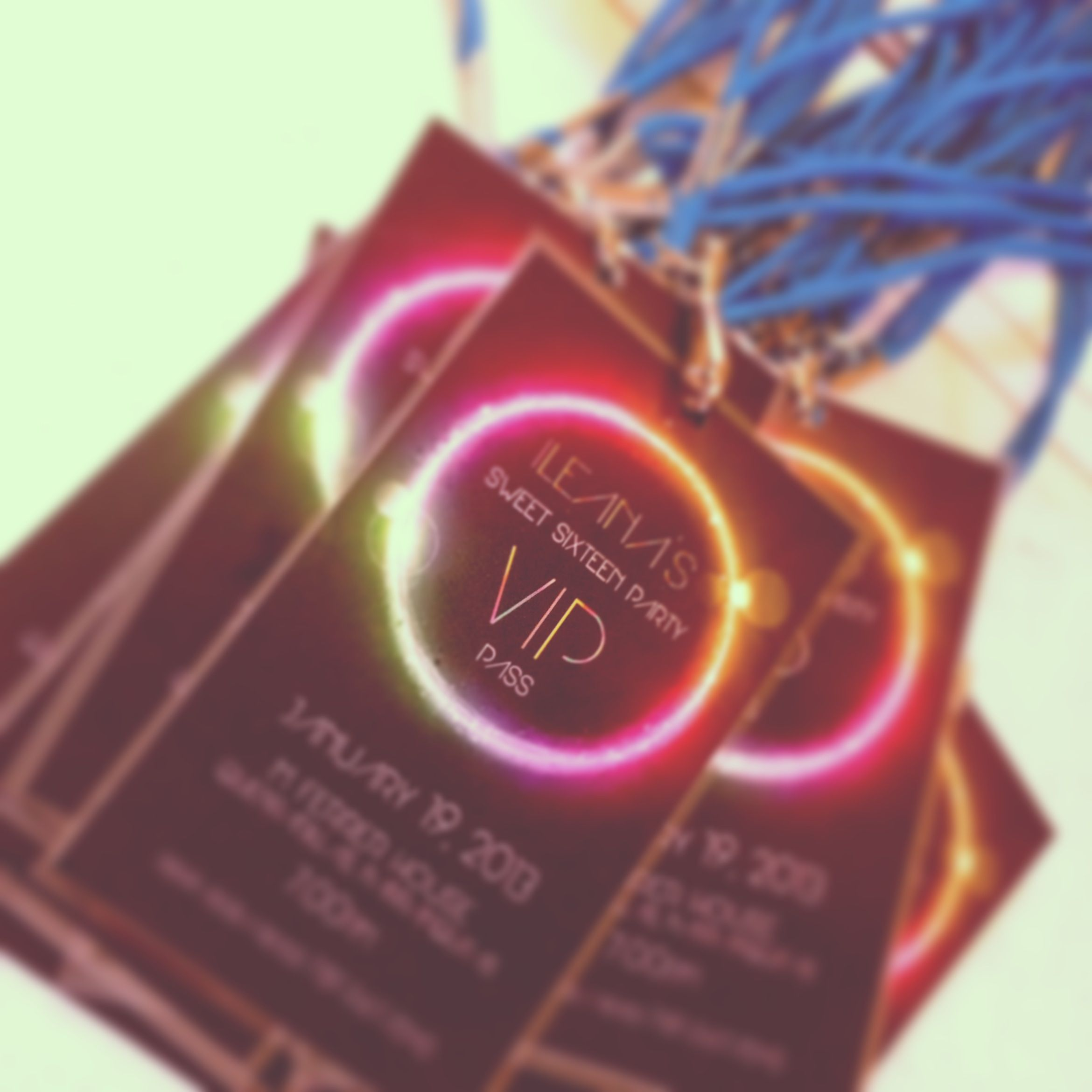 Click and shop in Etsy Vip passes sweet sixteen invitations ...