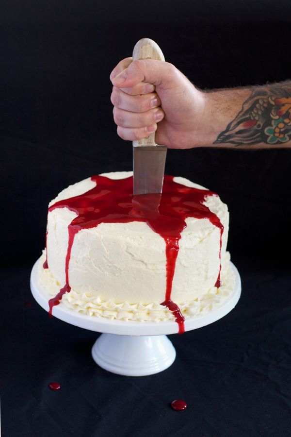 Halloween Bleeding Cake Recipe With Images Halloween Food