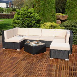 Mobili In Polyrattan.Lounge Sitzgruppe Sitzgarnitur Rattan Polyrattan Set Sofa