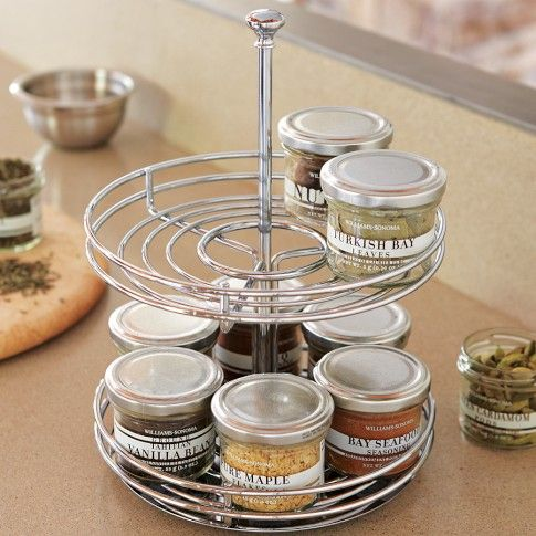 Superb Two Tier Revolving Spice Rack