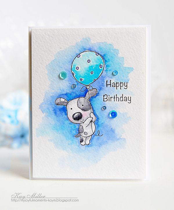 С днем рождения открытка акварелью
