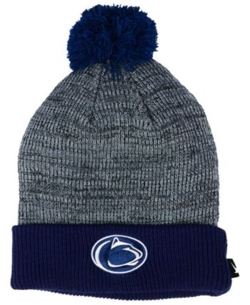 d7824193231 Nike Penn State Nittany Lions Heather Pom Knit Hat - Gray Adjustable ...
